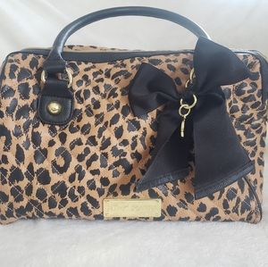 Betsy Johnson Leopard Print Bag